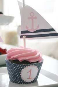 Sailor Girl Nautical Birthday Party via Kara's Party Ideas | KarasPartyIdeas.com #sailor #nautical #girl #navy #party #ideas (27)
