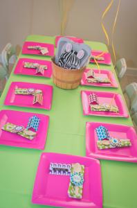 Mod Safari Wild Animal themed birthday party for a girl via Kara's Party Ideas | KarasPartyIdeas.com #modern #animal #wild #safari #jungle #mod #birthday #party #girl #ideas #cake #supplies #decoration #idea (17)