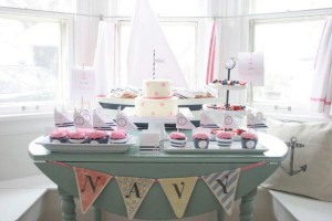 Sailor Girl Nautical Birthday Party via Kara's Party Ideas | KarasPartyIdeas.com #sailor #nautical #girl #navy #party #ideas (22)