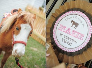 Pink pony themed birthday party via Kara's Party Ideas KarasPartyIdeas.com #pony #horse #birthday #party (3)