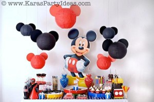 Mickey Mouse Birthday Party via Kara's Party Ideas | KarasPartyIdeas.com #mickey #mouse #cake #favor #decorations #supplies #birthday #party #ideas (42)