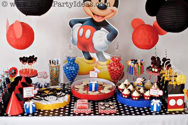 Mickey Mouse Birthday Party via Kara's Party Ideas | KarasPartyIdeas.com #mickey #mouse #cake #favor #decorations #supplies #birthday #party #ideas (25)