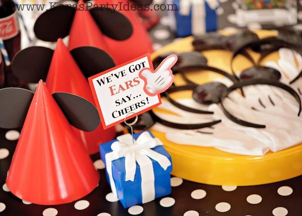 Mickey Mouse Birthday Party via Kara's Party Ideas | KarasPartyIdeas.com #mickey #mouse #cake #favor #decorations #supplies #birthday #party #ideas (41)