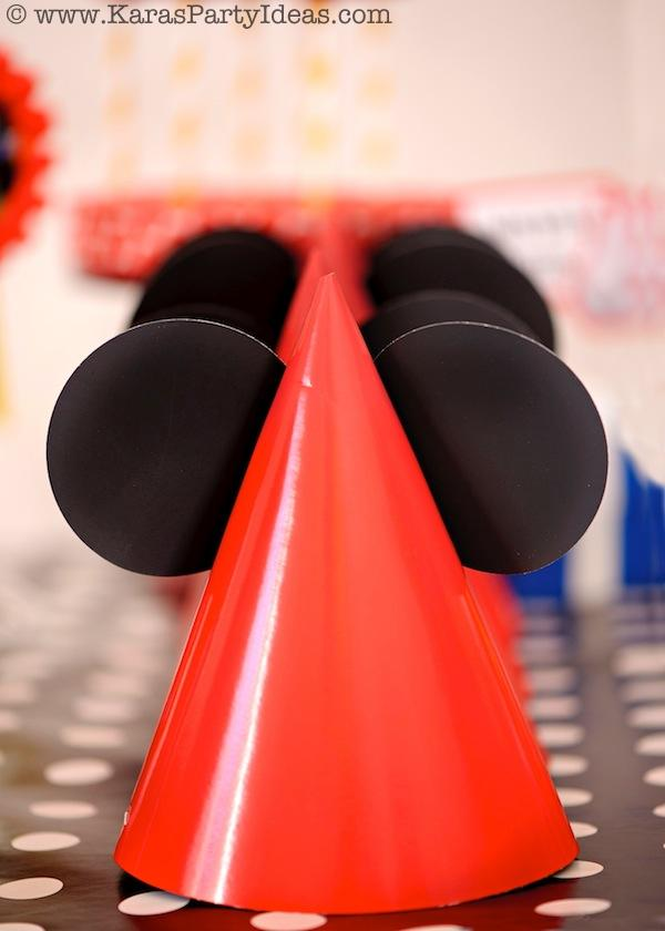 Mickey Mouse Birthday Party via Kara's Party Ideas | KarasPartyIdeas.com #mickey #mouse #cake #favor #decorations #supplies #birthday #party #ideas (10)