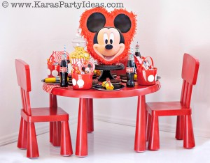 Mickey Mouse Birthday Party via Kara's Party Ideas | KarasPartyIdeas.com #mickey #mouse #cake #favor #decorations #supplies #birthday #party #ideas (34)