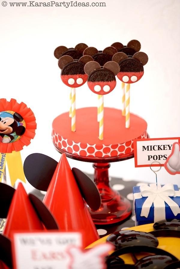 Mickey Mouse Birthday Party via Kara's Party Ideas | KarasPartyIdeas.com #mickey #mouse #cake #favor #decorations #supplies #birthday #party #ideas (32)