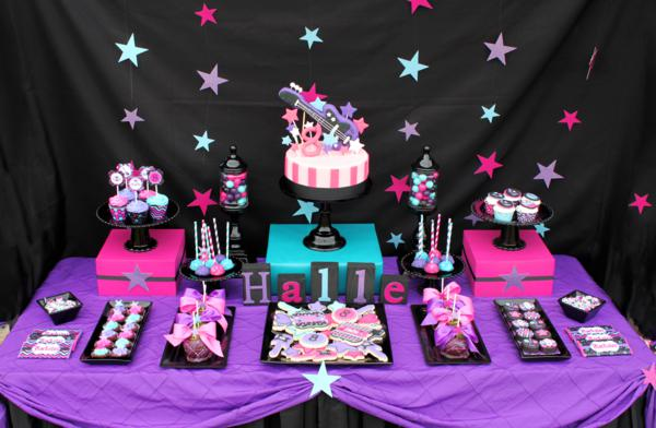 Kara 39 s party ideas girly rock star birthday party for 18 party decoration ideas