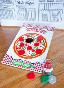 Pizzeria Little Chef themed pizza party via Kara's Birthday Party Ideas KarasPartyIdeas.com #little #chef #pizza #pizzeria #themed #boy #party #ideas #cake #idea #printables #supplies #decorations #kids #activities #favors (3)