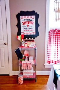 Pizzeria Little Chef themed pizza party via Kara's Birthday Party Ideas KarasPartyIdeas.com #little #chef #pizza #pizzeria #themed #boy #party #ideas #cake #idea #printables #supplies #decorations #kids #activities #favors (4)