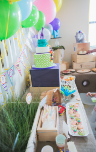 Mod Safari Wild Animal themed birthday party for a girl via Kara's Party Ideas | KarasPartyIdeas.com #modern #animal #wild #safari #jungle #mod #birthday #party #girl #ideas #cake #supplies #decoration #idea (9)