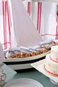 Sailor Girl Nautical Birthday Party via Kara's Party Ideas | KarasPartyIdeas.com #sailor #nautical #girl #navy #party #ideas (11)