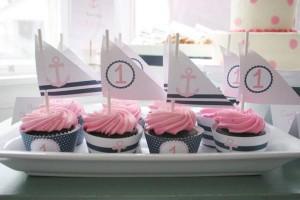 Sailor Girl Nautical Birthday Party via Kara's Party Ideas | KarasPartyIdeas.com #sailor #nautical #girl #navy #party #ideas (10)