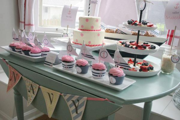 Sailor Girl Nautical Birthday Party via Kara's Party Ideas | KarasPartyIdeas.com #sailor #nautical #girl #navy #party #ideas (5)