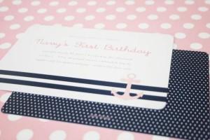 Sailor Girl Nautical Birthday Party via Kara's Party Ideas | KarasPartyIdeas.com #sailor #nautical #girl #navy #party #ideas (2)
