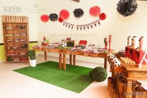 Soccer themed birthday party via Kara's Party Ideas | KarasPartyIdeas.com #soccer #themed #birthday #party #supplies #decor #cake #idea #cupcakes #favors (32)