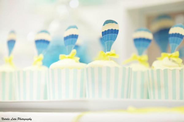 Hot Air Balloon Baby Shower via Kara's Party Ideas | KarasPartyIdeas.com #hot #air #balloon #up #away #baby #shower #party #ideas (20)