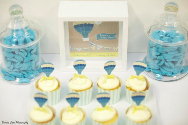 Hot Air Balloon Baby Shower via Kara's Party Ideas | KarasPartyIdeas.com #hot #air #balloon #up #away #baby #shower #party #ideas (19)