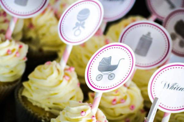 Princess Baby Shower via Kara's Party Ideas | KarasPartyIdeas.com #pink #gray #princess #baby #shower #party #ideas (32)