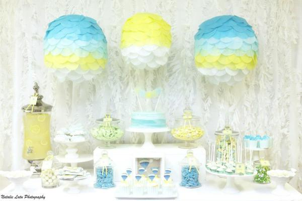 Hot Air Balloon Baby Shower via Kara's Party Ideas | KarasPartyIdeas.com #hot #air #balloon #up #away #baby #shower #party #ideas (18)