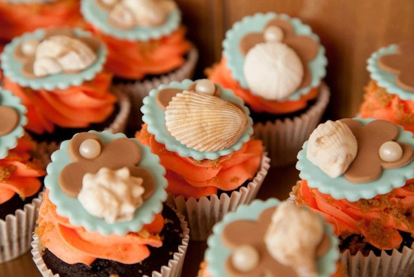 Mermaid girl under the sea party via Kara's Party Ideas! KarasPartyIdeas.com #mermaid #themed #birthday #party #planning #supplies #cake #cupcakes #idea (55)