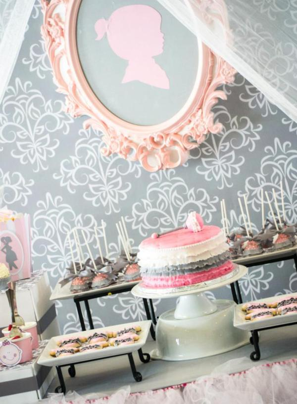 Princess Baby Shower via Kara's Party Ideas | KarasPartyIdeas.com #pink #gray #princess #baby #shower #party #ideas (28)