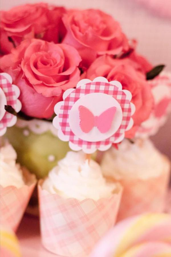 Girly Gingham Party via Kara's Party Ideas | KarasPartyIdeas.com #girly #gingham #pink #party #ideas (18)