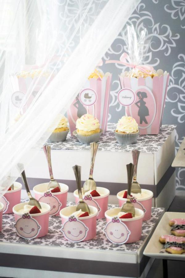 Princess Baby Shower via Kara's Party Ideas | KarasPartyIdeas.com #pink #gray #princess #baby #shower #party #ideas (25)