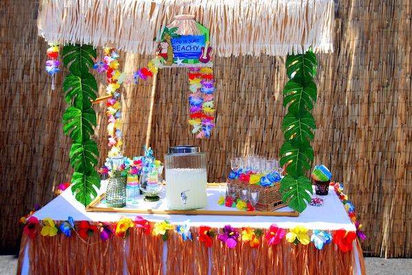 Luau + Surf themed birthday party FULL of ideas! Via Kara's Party Ideas | KarasPartyIdeas.com #summer #pool #luau #surfing #party #themed #idea #cake #supplies #decor #food #desserts (19)