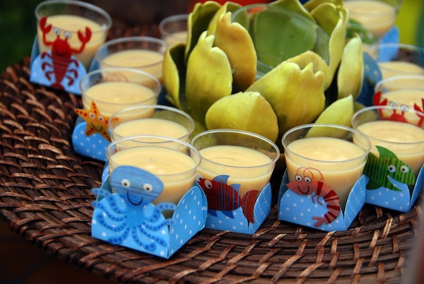 Luau + Surf themed birthday party FULL of ideas! Via Kara's Party Ideas | KarasPartyIdeas.com #summer #pool #luau #surfing #party #themed #idea #cake #supplies #decor #food #desserts (18)
