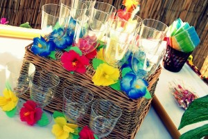 Luau + Surf themed birthday party FULL of ideas! Via Kara's Party Ideas | KarasPartyIdeas.com #summer #pool #luau #surfing #party #themed #idea #cake #supplies #decor #food #desserts (17)