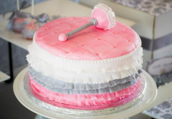 Princess Baby Shower via Kara's Party Ideas | KarasPartyIdeas.com #pink #gray #princess #baby #shower #party #ideas (23)