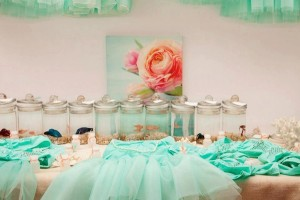 Mermaid girl under the sea party via Kara's Party Ideas! KarasPartyIdeas.com #mermaid #themed #birthday #party #planning #supplies #cake #cupcakes #idea (22)