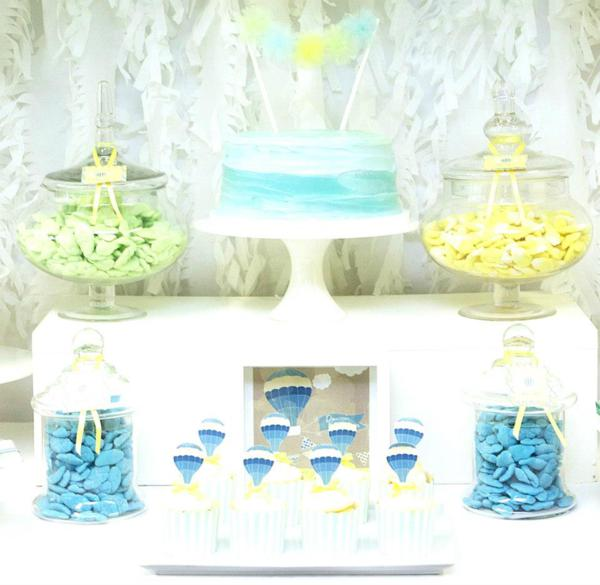Hot Air Balloon Baby Shower via Kara's Party Ideas | KarasPartyIdeas.com #hot #air #balloon #up #away #baby #shower #party #ideas (14)