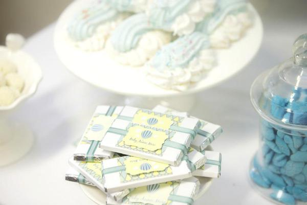 Hot Air Balloon Baby Shower via Kara's Party Ideas | KarasPartyIdeas.com #hot #air #balloon #up #away #baby #shower #party #ideas (13)