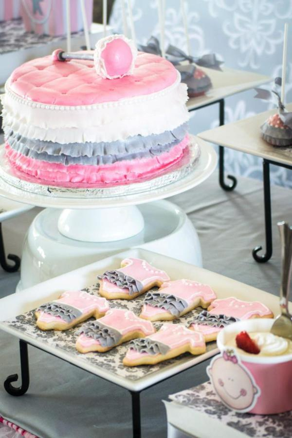 Princess Baby Shower via Kara's Party Ideas | KarasPartyIdeas.com #pink #gray #princess #baby #shower #party #ideas (18)