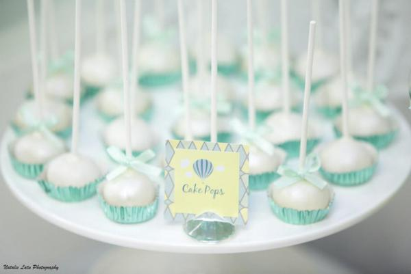 Hot Air Balloon Baby Shower via Kara's Party Ideas | KarasPartyIdeas.com #hot #air #balloon #up #away #baby #shower #party #ideas (9)