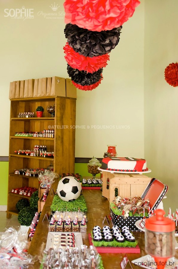 Soccer themed birthday party via Kara's Party Ideas | KarasPartyIdeas.com #soccer #themed #birthday #party #supplies #decor #cake #idea #cupcakes #favors (23)