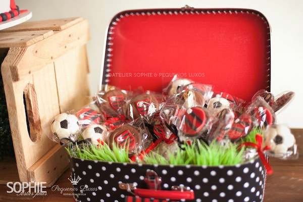 Soccer themed birthday party via Kara's Party Ideas | KarasPartyIdeas.com #soccer #themed #birthday #party #supplies #decor #cake #idea #cupcakes #favors (22)