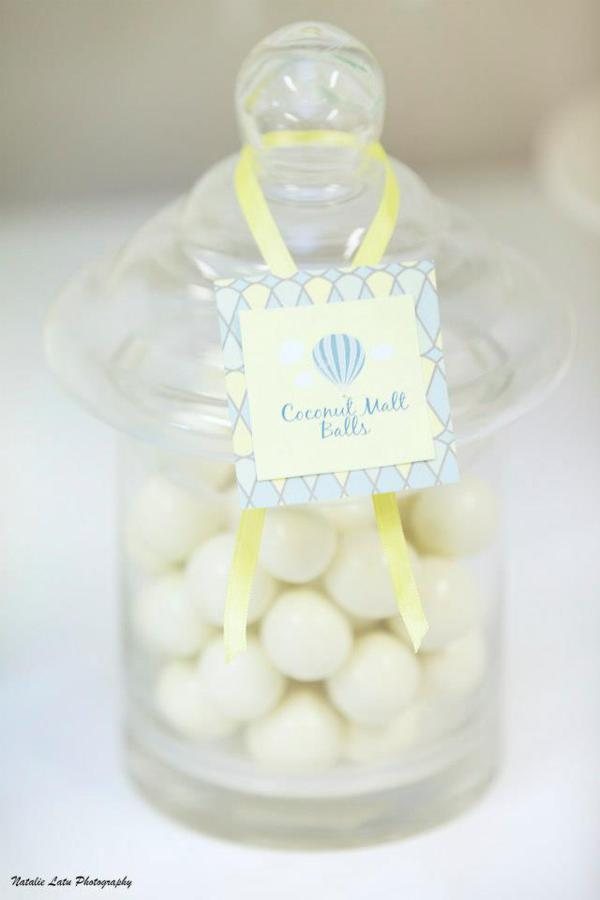 Hot Air Balloon Baby Shower via Kara's Party Ideas | KarasPartyIdeas.com #hot #air #balloon #up #away #baby #shower #party #ideas (6)