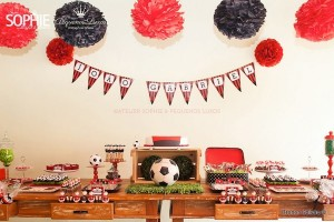 Soccer themed birthday party via Kara's Party Ideas | KarasPartyIdeas.com #soccer #themed #birthday #party #supplies #decor #cake #idea #cupcakes #favors (17)