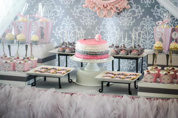 Princess Baby Shower Via Karau0027s Party Ideas | KarasPartyIdeas.com #pink # Gray #