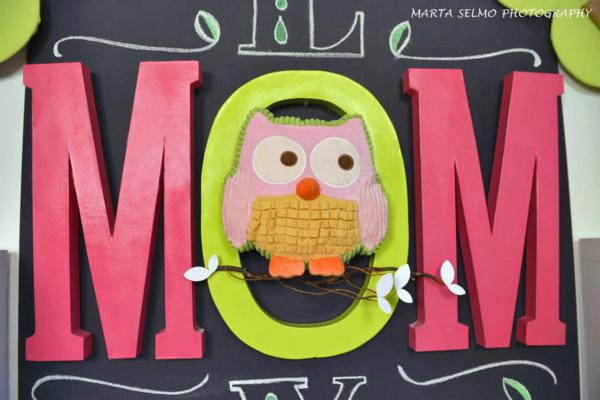 Mama Owl Mother's Day Party via Kara's Party Ideas | KarasPartyIdeas.com #mother's #day #owl #party #baby #shower #ideas (20)