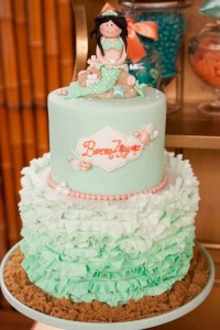 Mermaid girl under the sea party via Kara's Party Ideas! KarasPartyIdeas.com #mermaid #themed #birthday #party #planning #supplies #cake #cupcakes #idea (45)