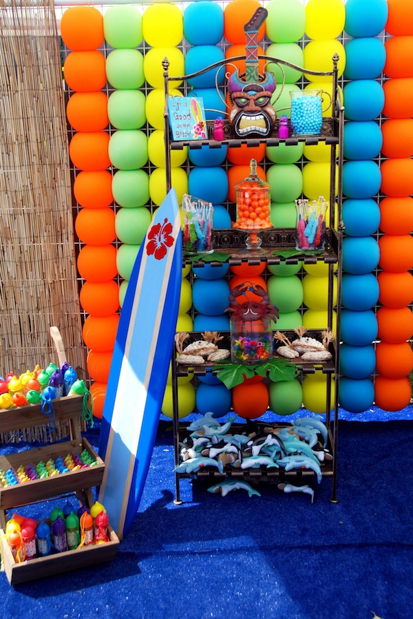 Luau + Surf themed birthday party FULL of ideas! Via Kara's Party Ideas | KarasPartyIdeas.com #summer #pool #luau #surfing #party #themed #idea #cake #supplies #decor #food #desserts (1)