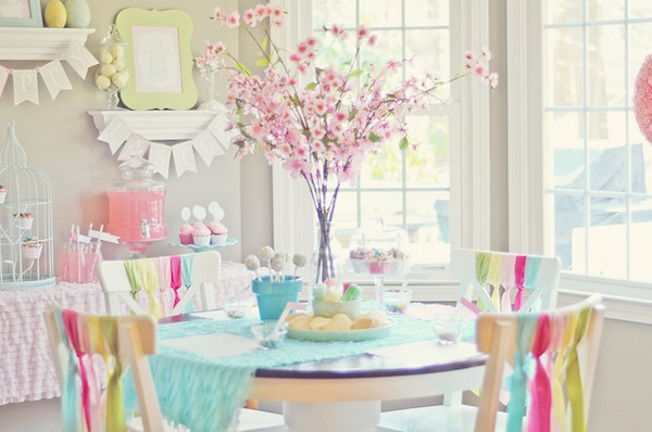 Kara 39 s party ideas spring cookie decorating party with for Spring bathroom ideas