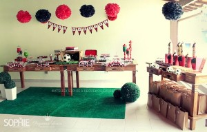 Soccer themed birthday party via Kara's Party Ideas | KarasPartyIdeas.com #soccer #themed #birthday #party #supplies #decor #cake #idea #cupcakes #favors (5)