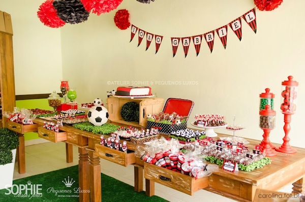 Soccer themed birthday party via Kara's Party Ideas | KarasPartyIdeas.com #soccer #themed #birthday #party #supplies #decor #cake #idea #cupcakes #favors (3)