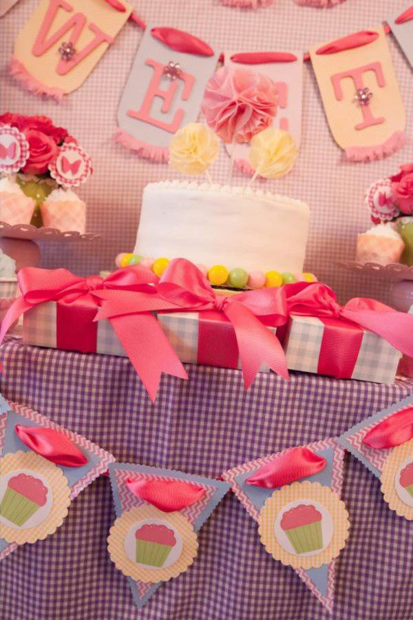 Girly Gingham Party via Kara's Party Ideas | KarasPartyIdeas.com #girly #gingham #pink #party #ideas (8)