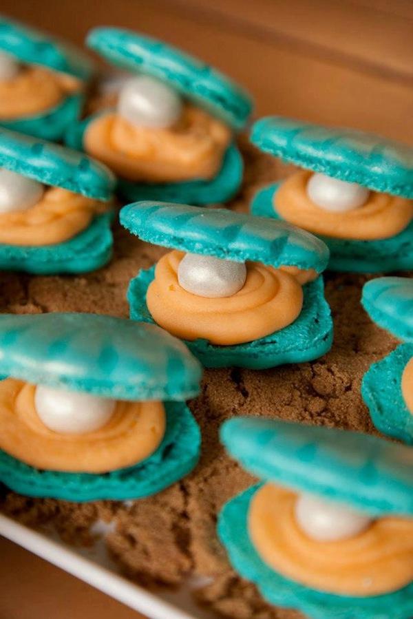 Mermaid girl under the sea party via Kara's Party Ideas! KarasPartyIdeas.com #mermaid #themed #birthday #party #planning #supplies #cake #cupcakes #idea (7)