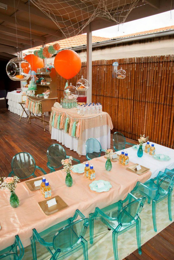 Mermaid girl under the sea party via Kara's Party Ideas! KarasPartyIdeas.com #mermaid #themed #birthday #party #planning #supplies #cake #cupcakes #idea (2)